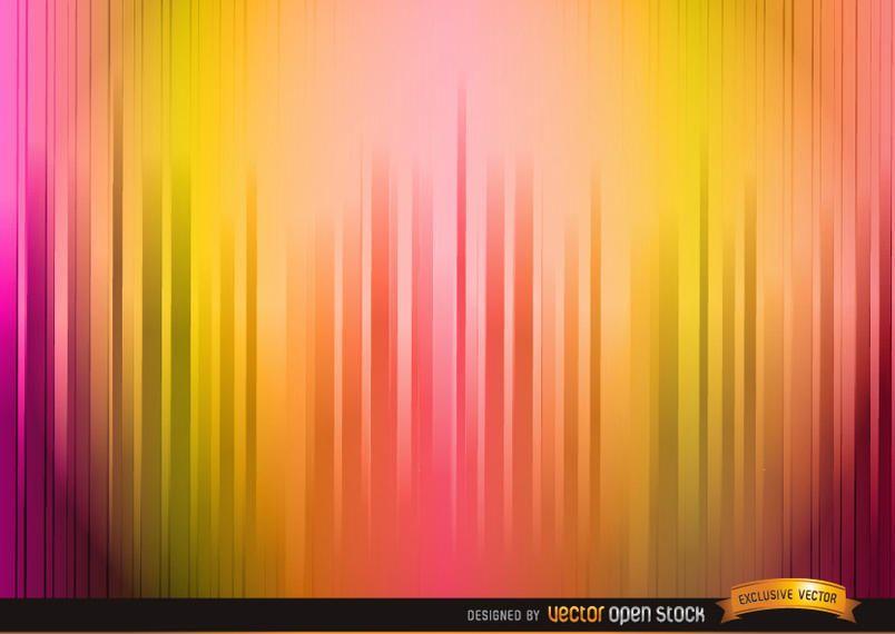 Fundo de listras de cor quente iluminado