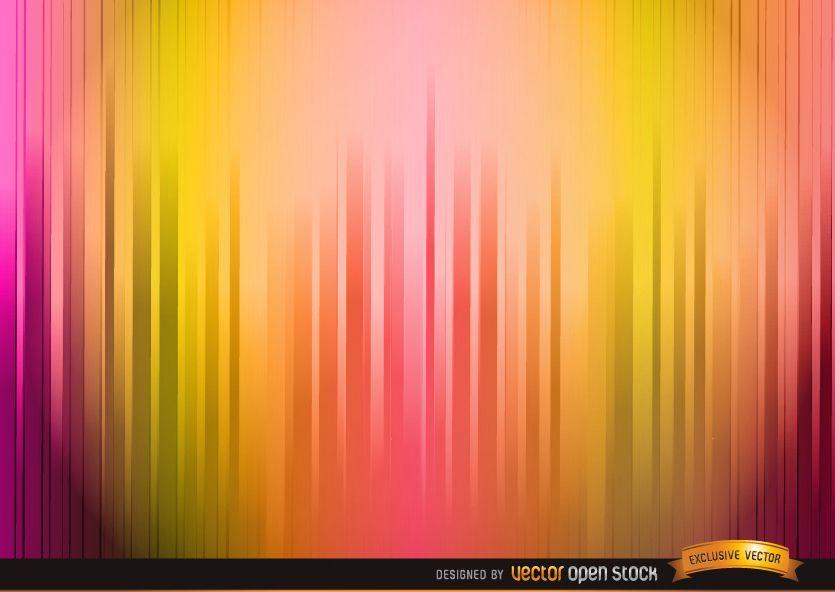Lighted warm color stripes background