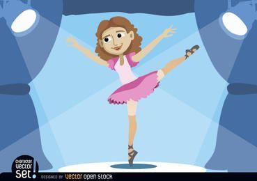 Bailarina actuando en el escenario