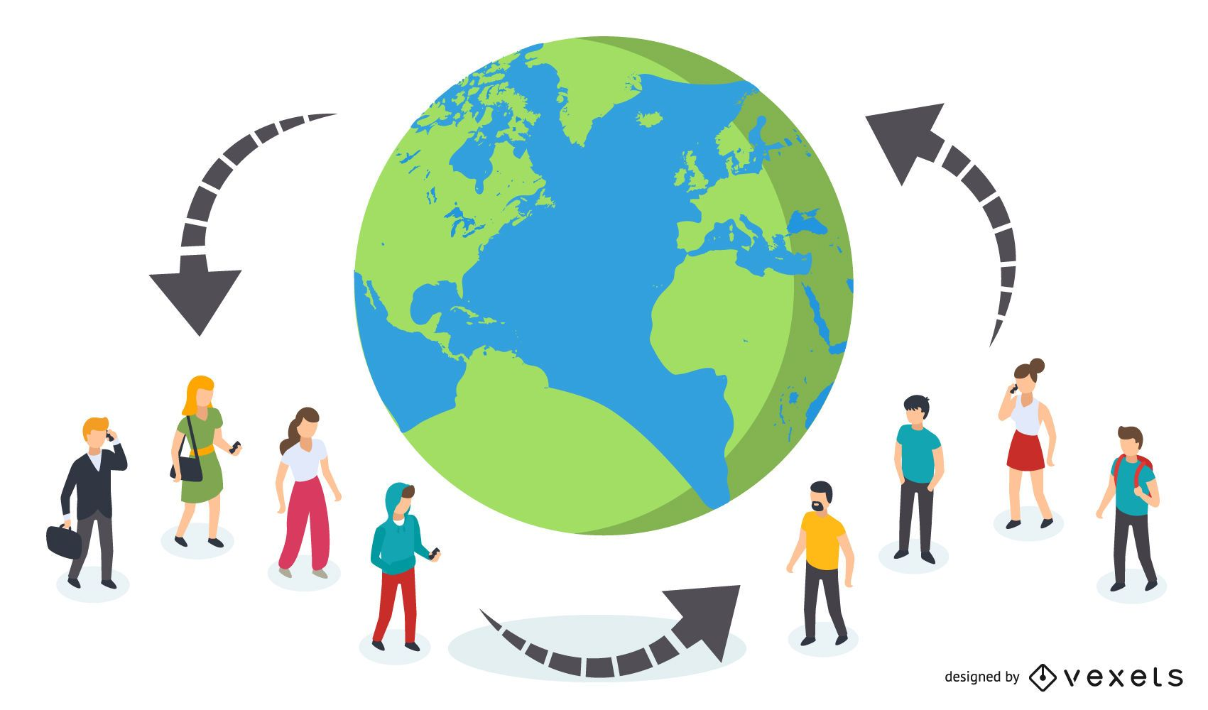 Personas conectadas a nivel mundial
