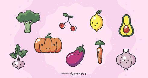 Paquete de verduras frescas Kawai