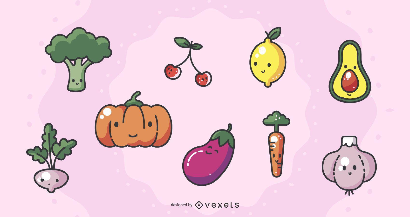 Frisches Kawai-Gemüsepaket
