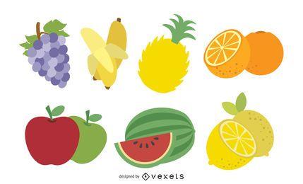 Pacote de frutas frescas e irritadas