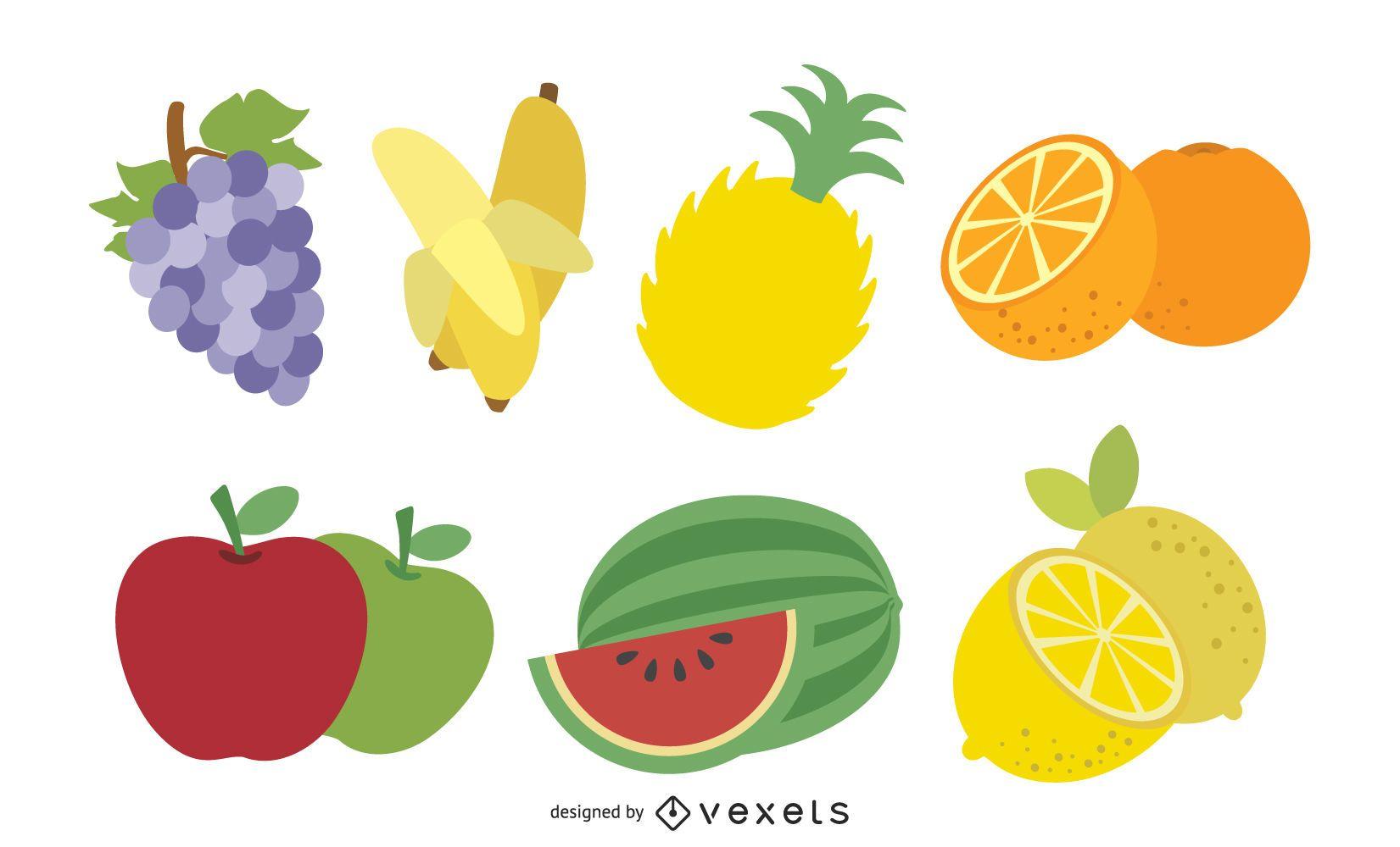 Paquete de frutas frescas irritadas