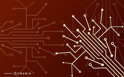 Fios de microplaqueta abstraem fundo elétrico