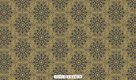 Fondo de patrón ornamental retro lujoso
