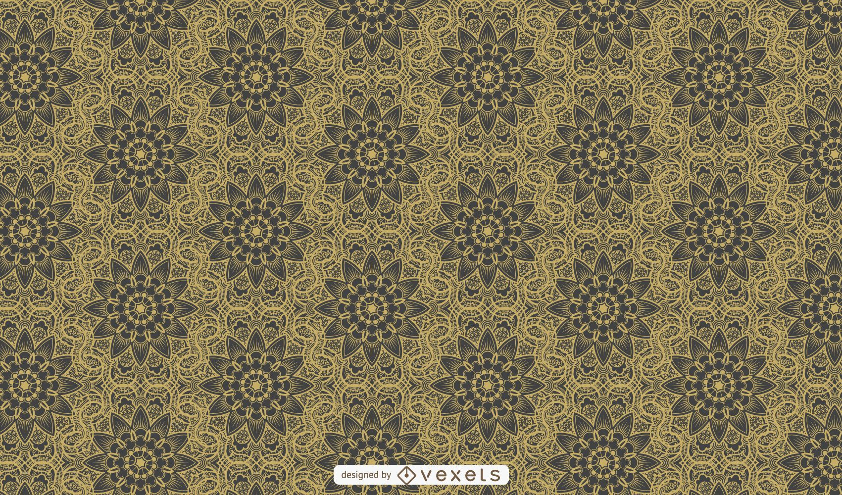 Luxurious Retro Ornamental Pattern Background