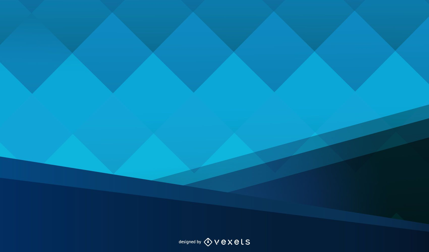 Dark Split Background with Blue Cubes in Middle