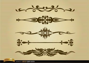 Conjunto de divisórias ornamentais