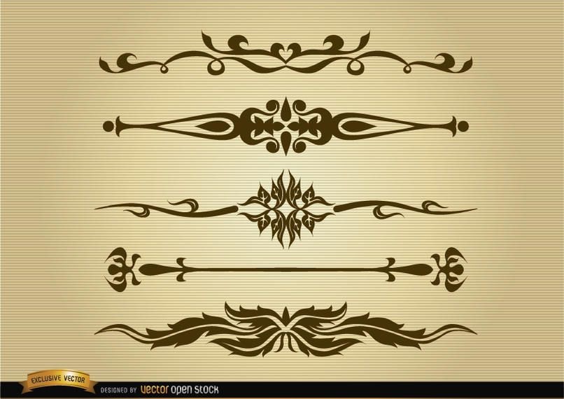 Set divisores ornamentales
