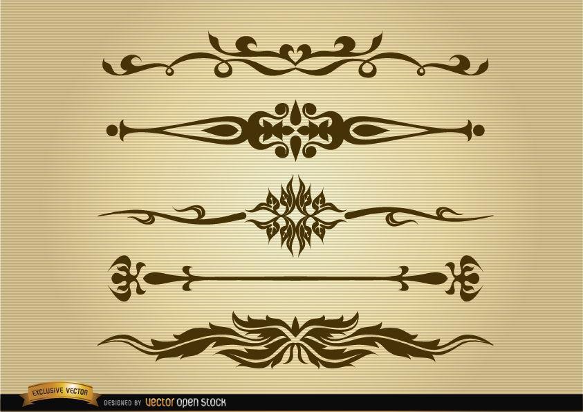 Ornamental dividers set