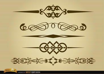 Pacote de linhas de divisão elegante