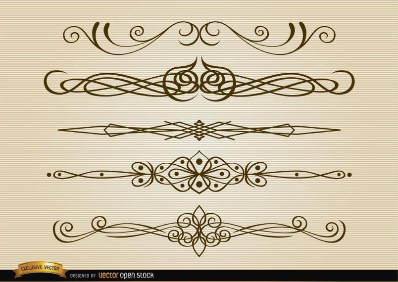 Thin stylish dividers set