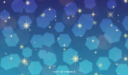 Glänzender bunter Hintergrund mit blinkender Bienenwabe