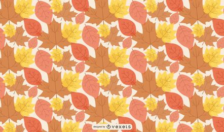 Seamless Linen Autumn Leaves Pattern
