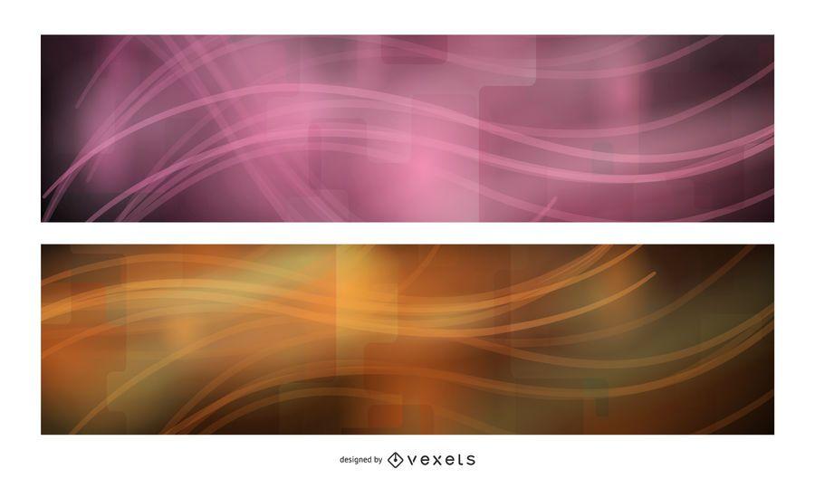 3 Banners de Neon Glow Tech