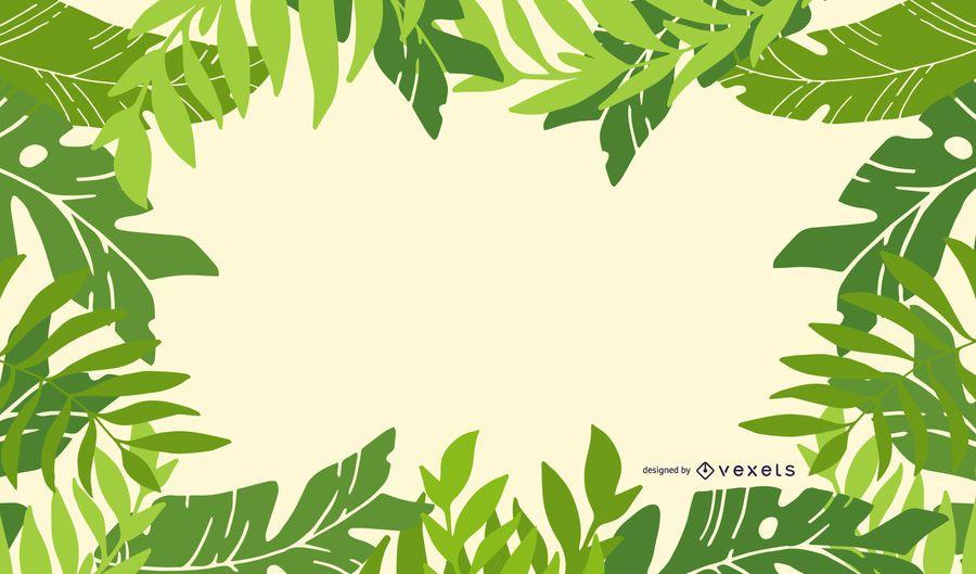Frisches Grün lässt Rahmen-Hintergrund