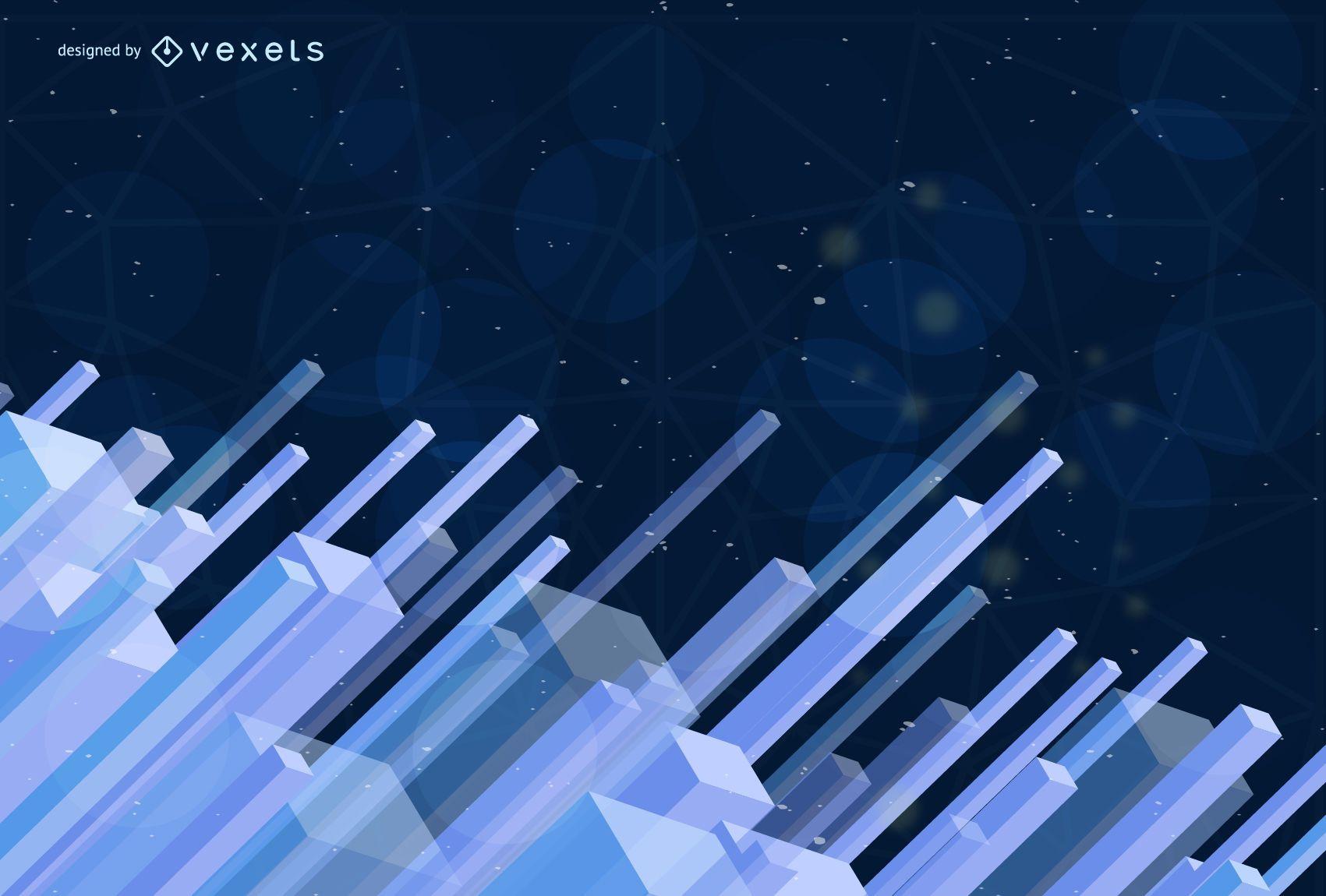 Fondo brillante abstracto azul tecnología