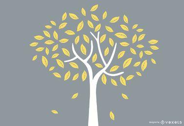 Fondo de naturaleza de árbol de otoño funky