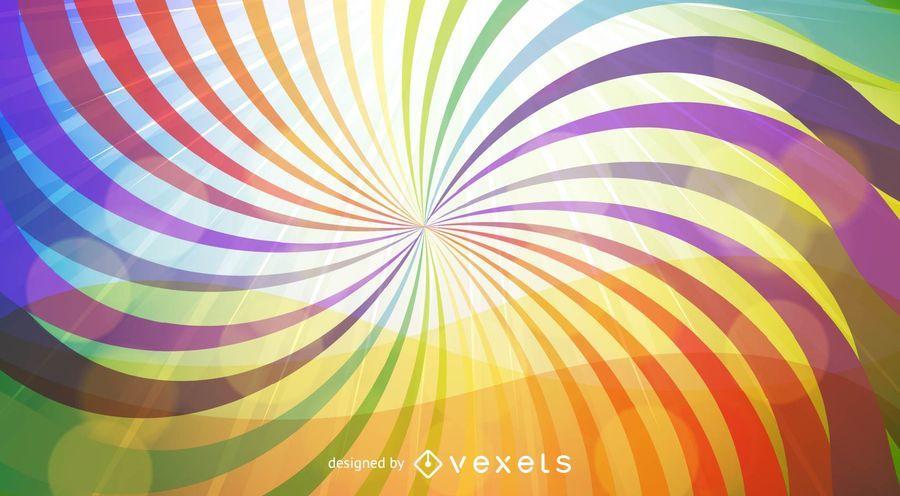 Fundo de vórtice de arco-íris com linhas de redemoinho