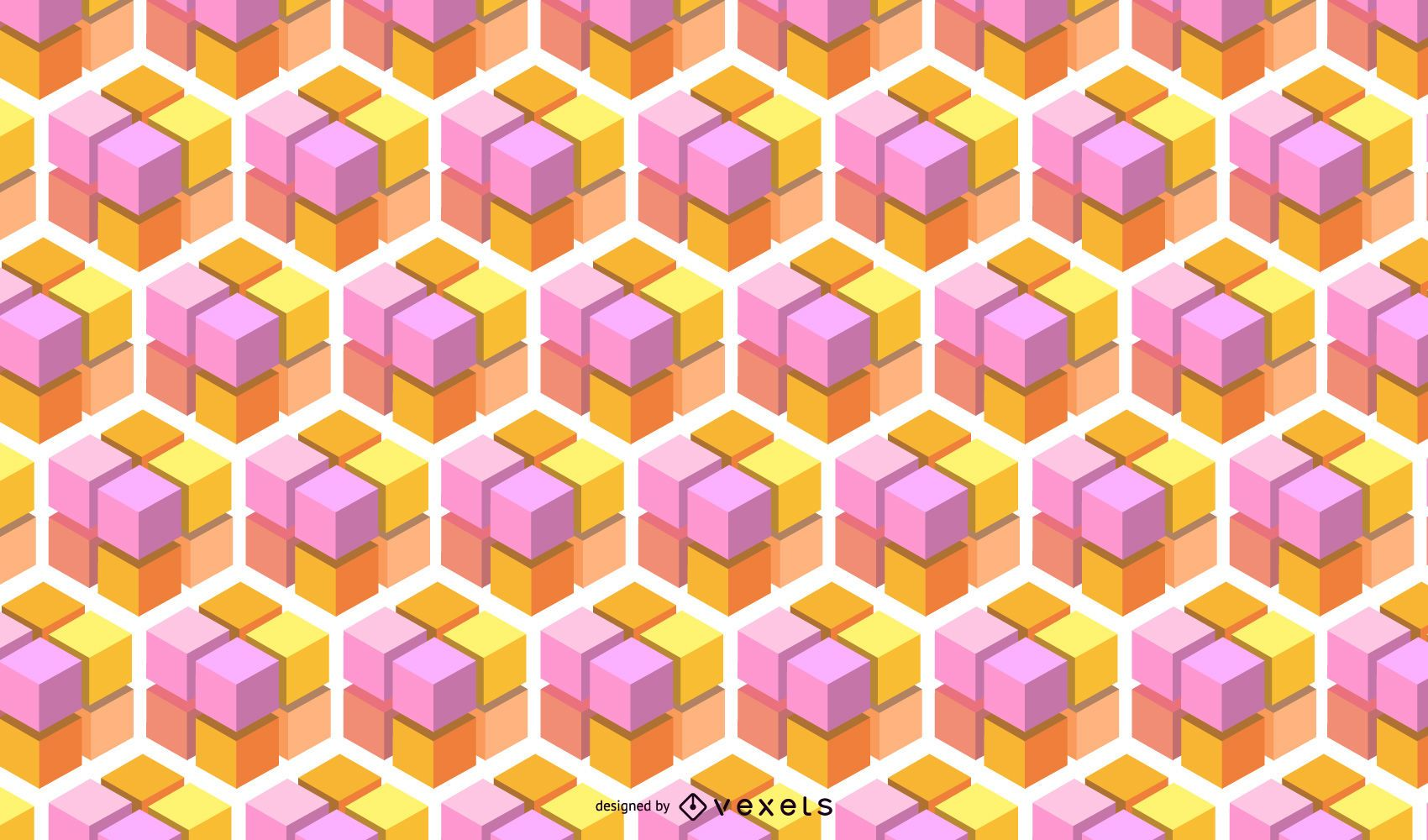 Geometric Abstract 3D Cubic Pattern