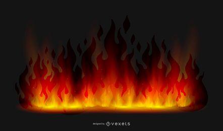Fundo realista de chamas saltando