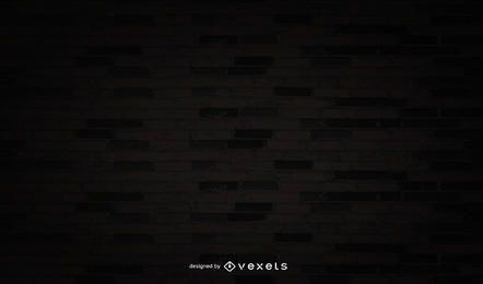 Shadowed pared de ladrillo con Grunge oscuro