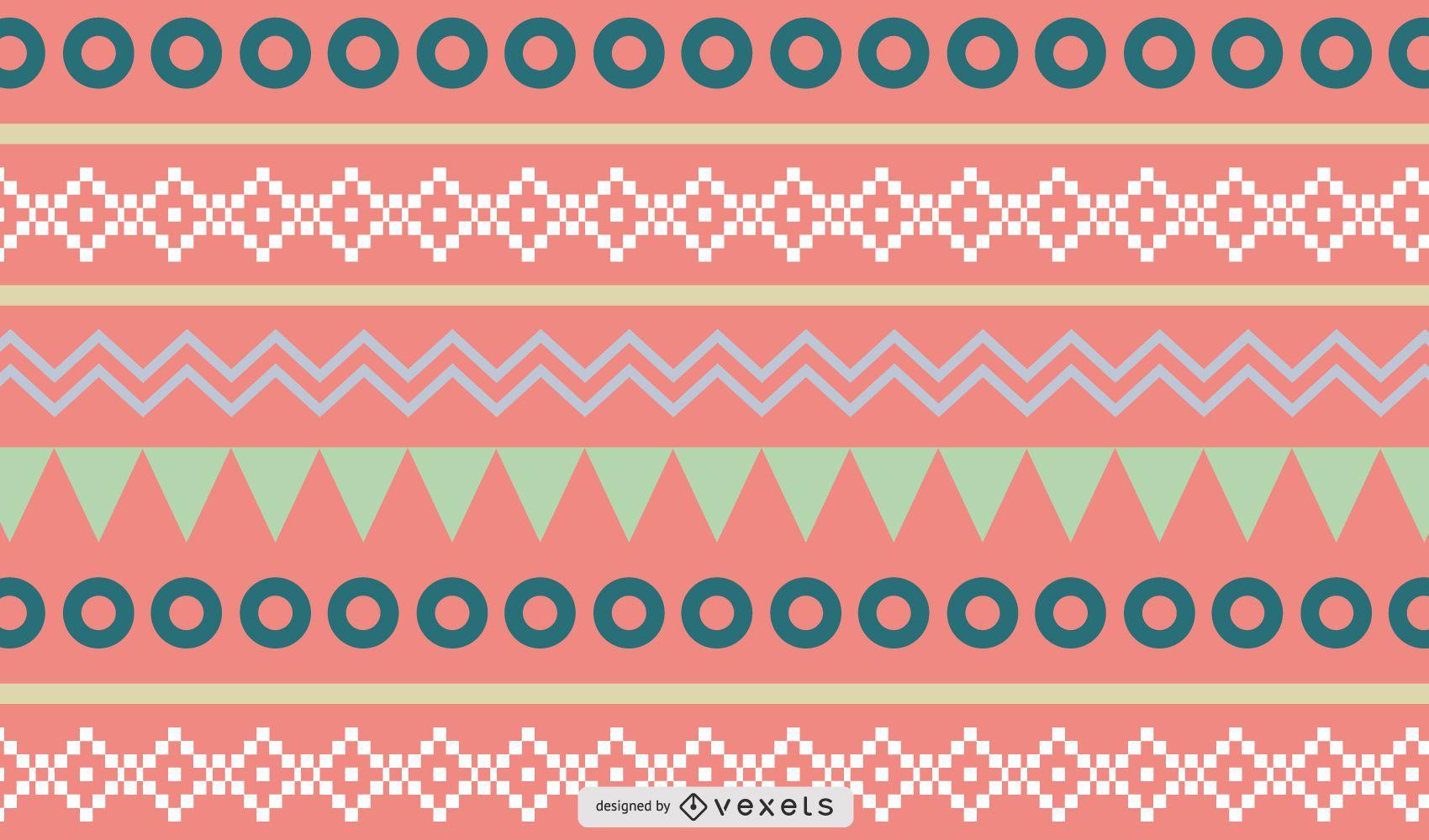 Rich Ethnic Seamless Pattern Background