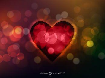 Fondo de San Valentín colorido fluorescente con destellos