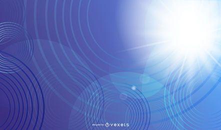 Luz azul, abstratos, fundo, com, círculos