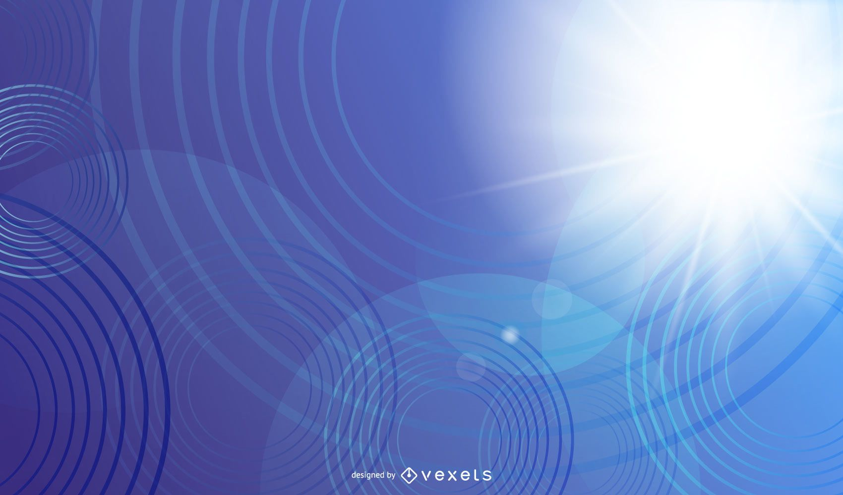 Blue Light Abstract Background with Circles