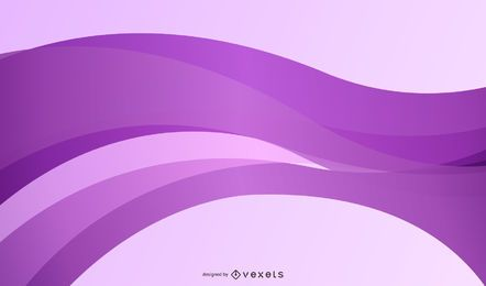 Abstract Purple Silky Curves Background
