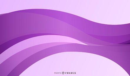 Fundo abstrato roxo de curvas de seda