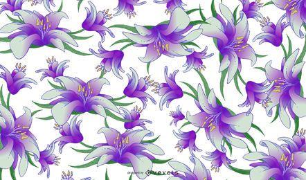 Patrón sin costuras floral retro primavera