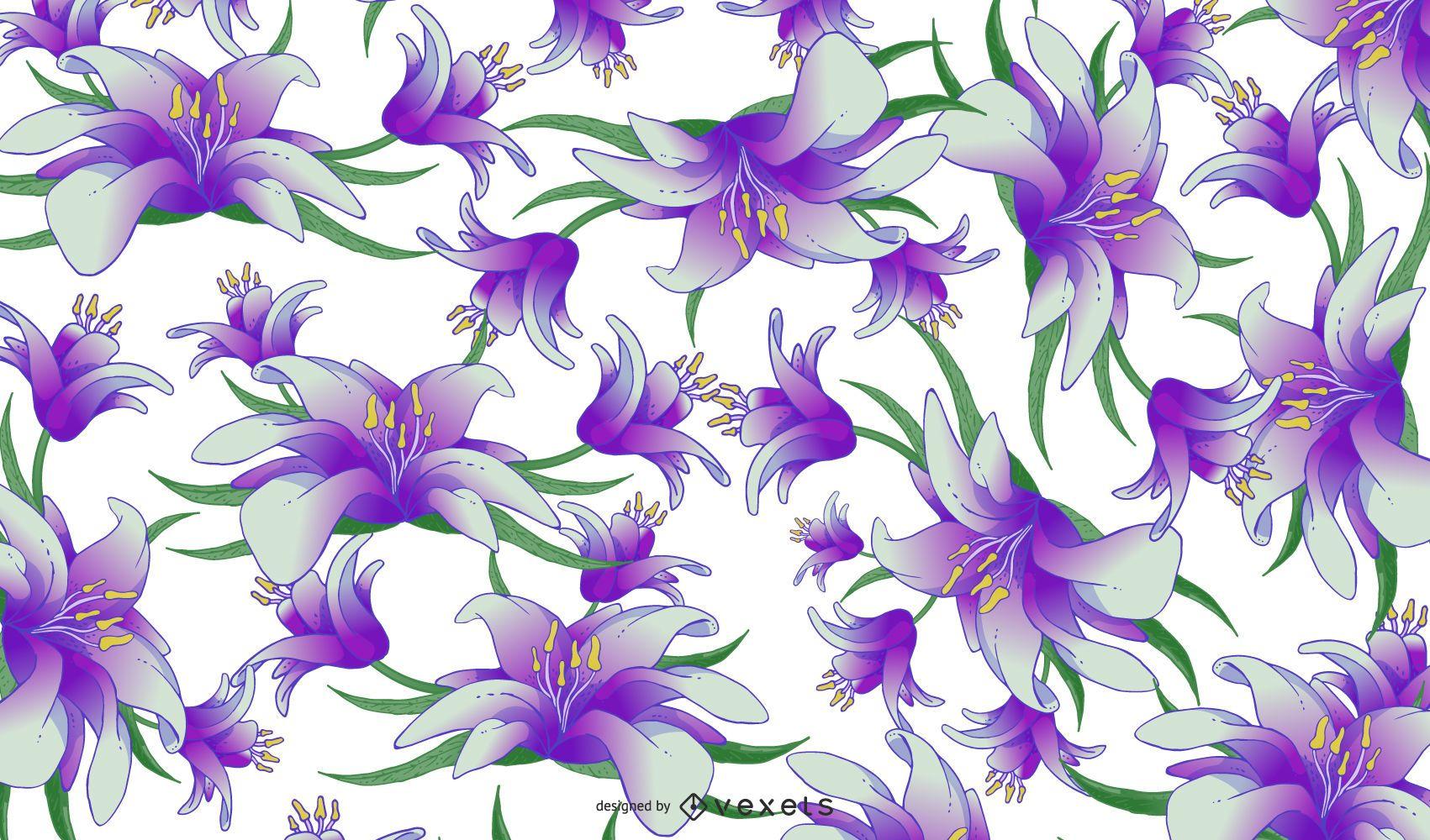 Patrón transparente floral primavera retro