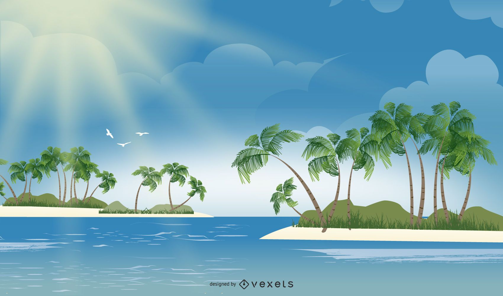 Hermosa isla tropical fresca del océano