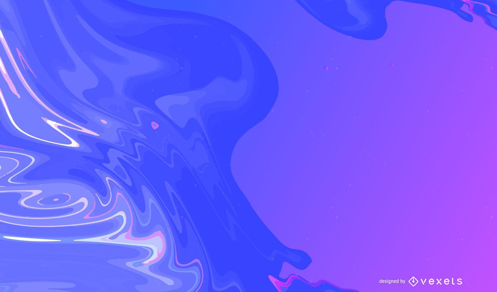 Fondo de plantilla de ondas sedosas coloridas