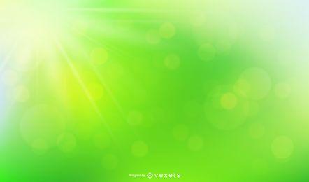 Fondo verde con luz natural de Bokeh