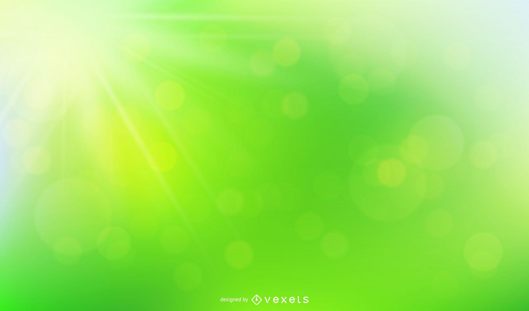 Fondo verde con luz solar natural Bokeh