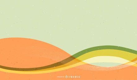 Fondo colorido brillante con líneas onduladas