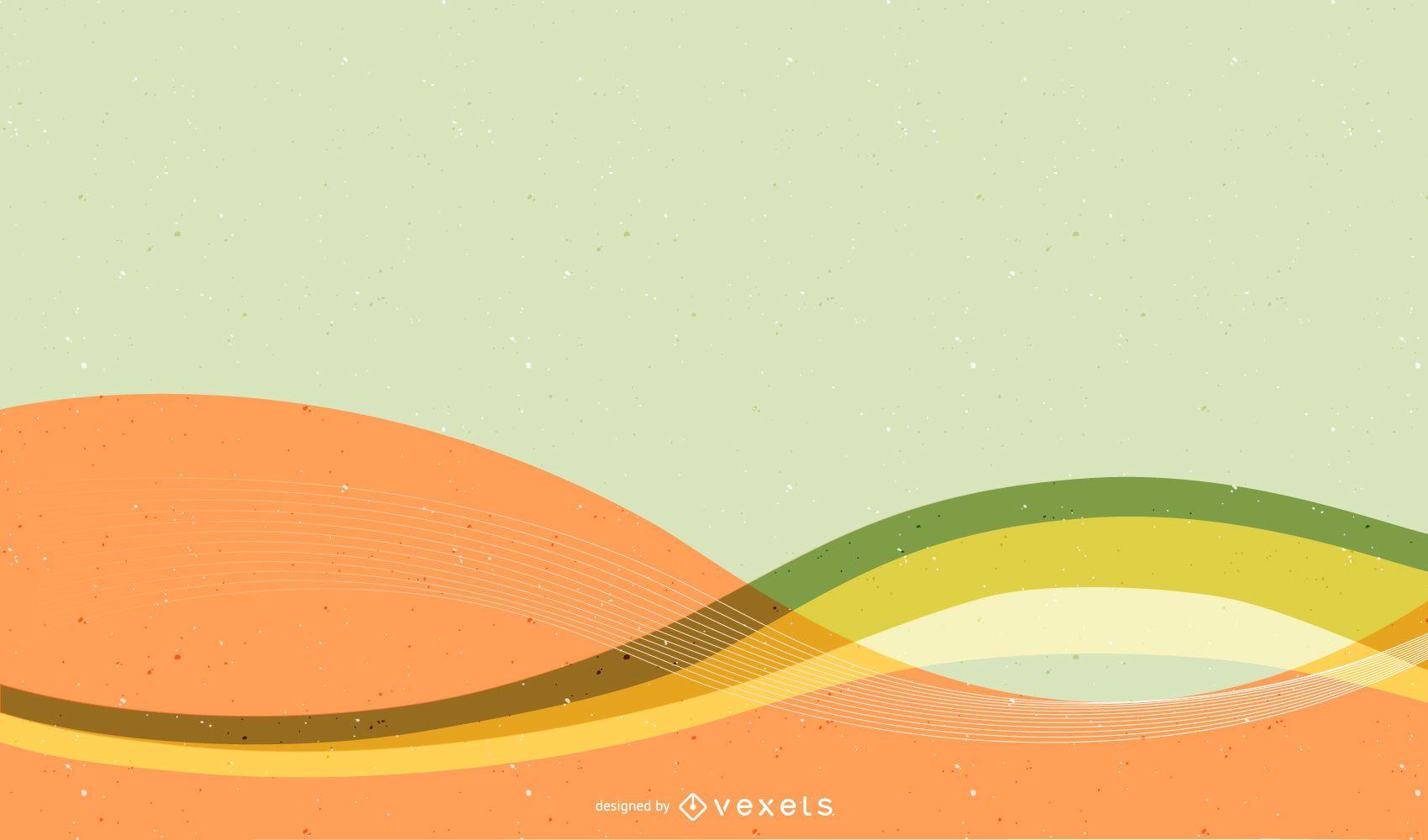 Fundo colorido brilhante com linhas onduladas