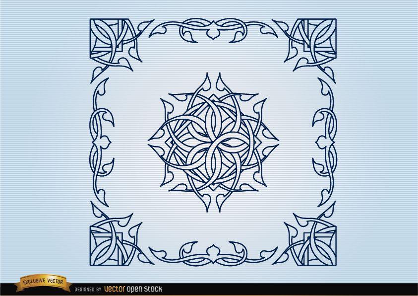 Celtic decorative borders