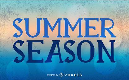 Tarjeta de temporada de verano sucio