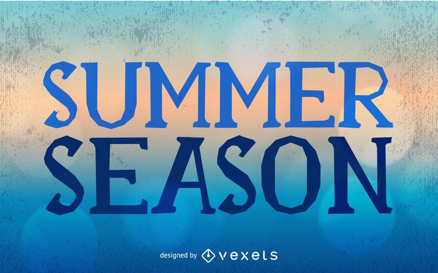 Abstract Grungy Summer Season Card