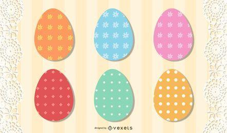 Decoração de ovos de Páscoa funky