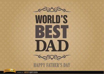 Etiqueta de día mejor papá del mundo del Padre