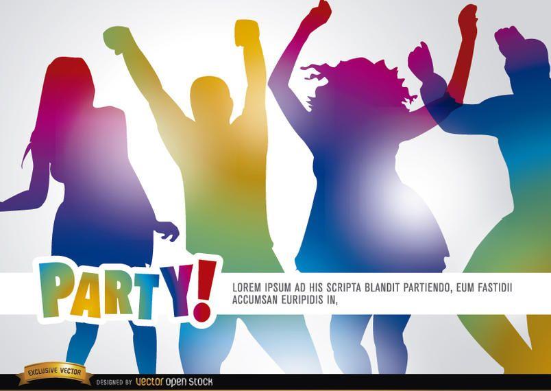 Pessoas dançando na festa promo