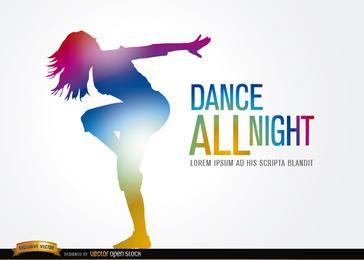 Figura de dançarina colorida