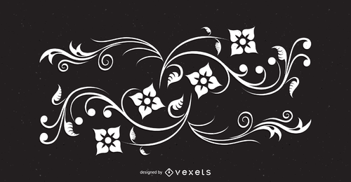 Abstract floral swirls illustration