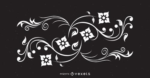 Ilustración de remolinos florales abstractos